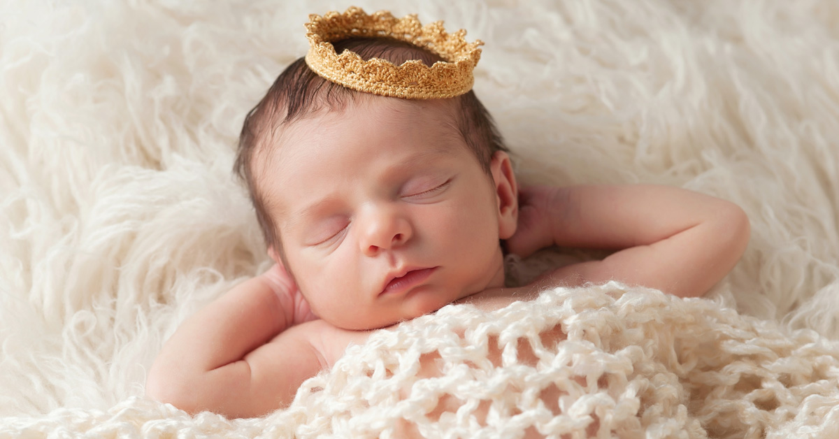 Baby Prince with cloth crown