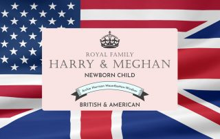 British and American Flags and Royal child announcement