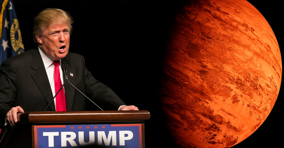 Donald Trump and Mars