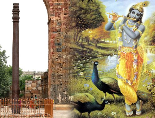 Krishna and the Iron Pillar of Delhi mystery